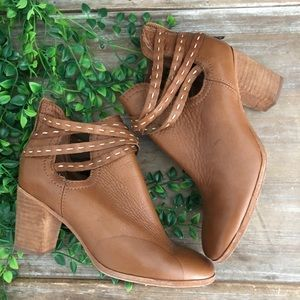 FRYE Brown Leather Heeled Ankle Booties 7 *read*